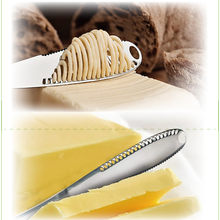 Stainless Steel Better Butter Spreader - Easy Spread Cold Hard Butter Kitchen accessories cake tools Cutter Knife Board Kitchen(China)