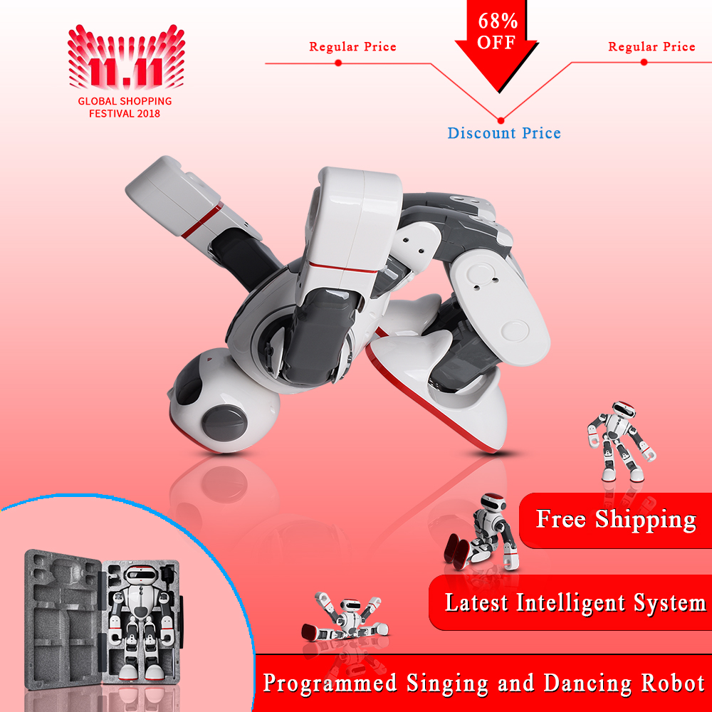 2018 WLtoys F8 Dobi Intelligent Humanoid Robot Voice Control RC Robot with Dance/Paint/Yoga/Tell Stories RC Toy Model on Sales ems dhl shipping wltoys f8 dobi intelligent humanoid voice control multifunction rc diy robot for children gifts