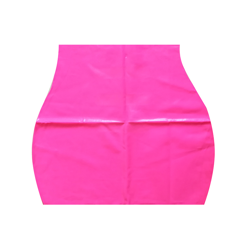 Latex Fetish Skirt Short With Slits Sexy Club New Rose Pink Color RED