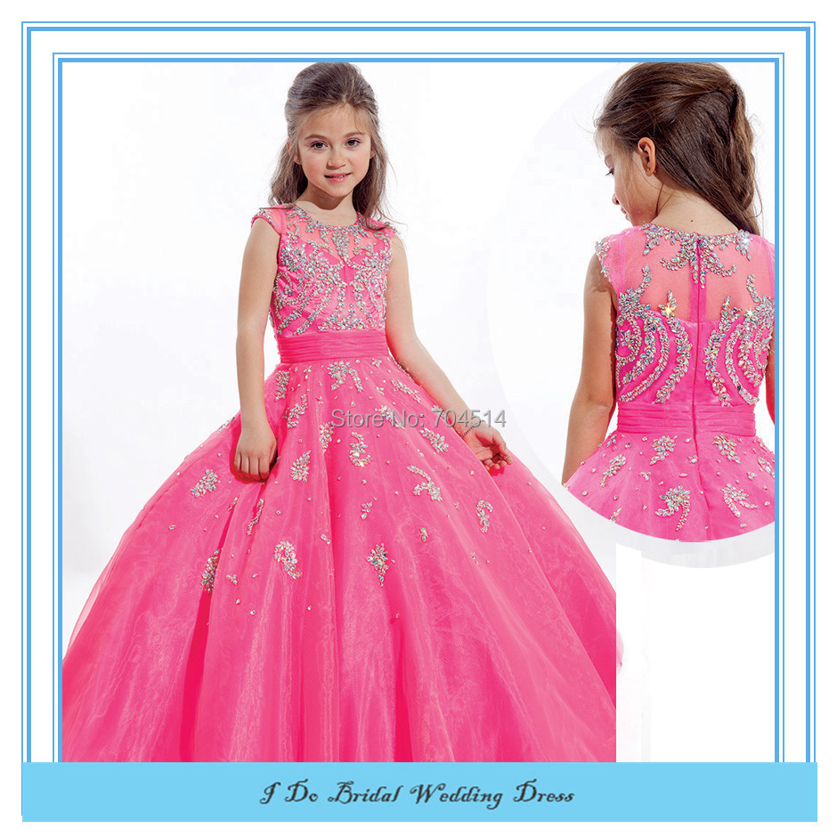 Pageant Gowns Kids Beauty Pageant Dresses For Little Girls Prom Dresses Organza Tulle Puffy ...