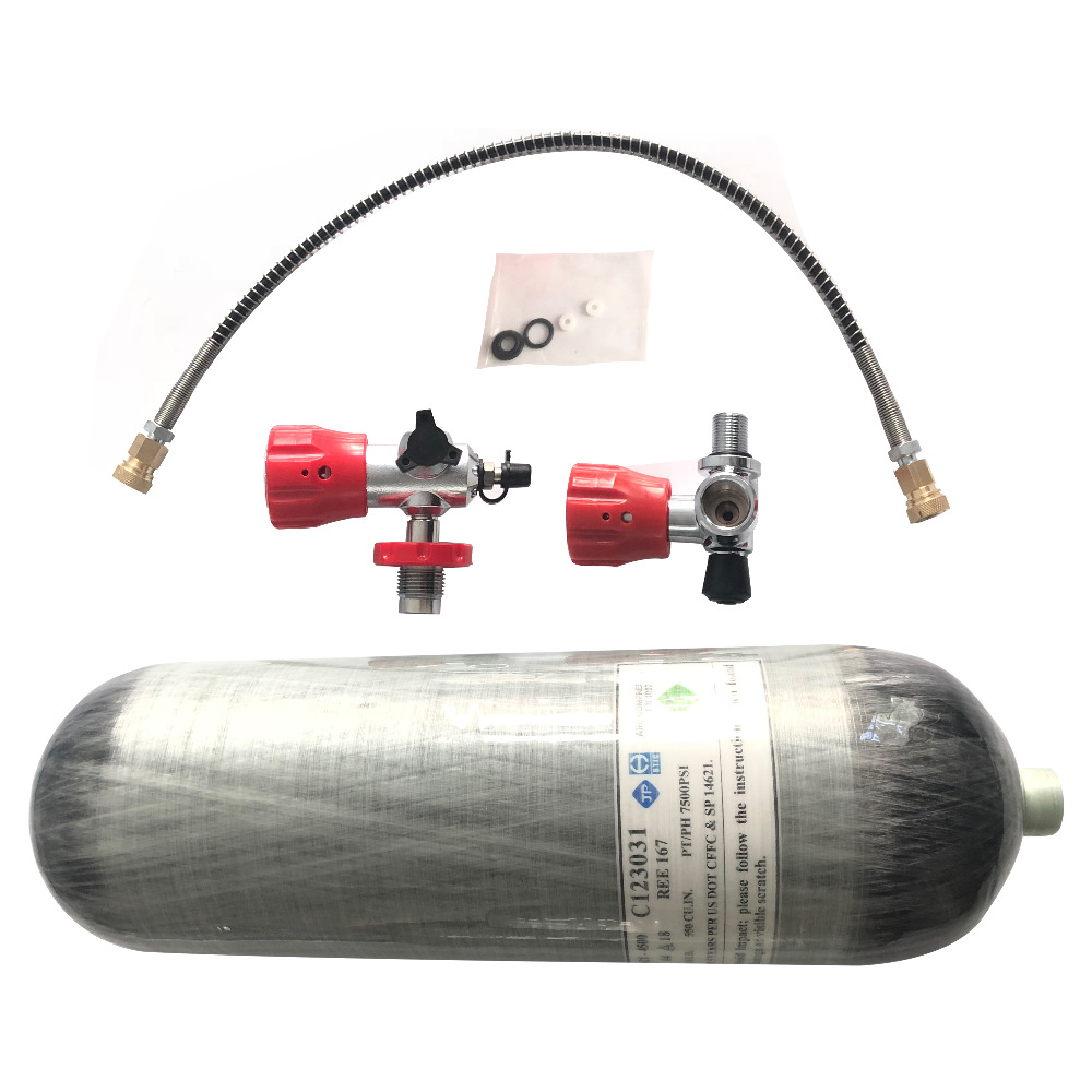Pcp Paintball Tank 4500PSI 300 Bar 9L DOT For Diving And For Hunting With Filling Station And Vavle Acecare