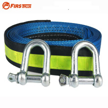 5M 8Tons Reflective Tow Cable Tow Strap Car Towing Rope With U Steel Shackle For Heavy Duty Car Emergency Send Gloves