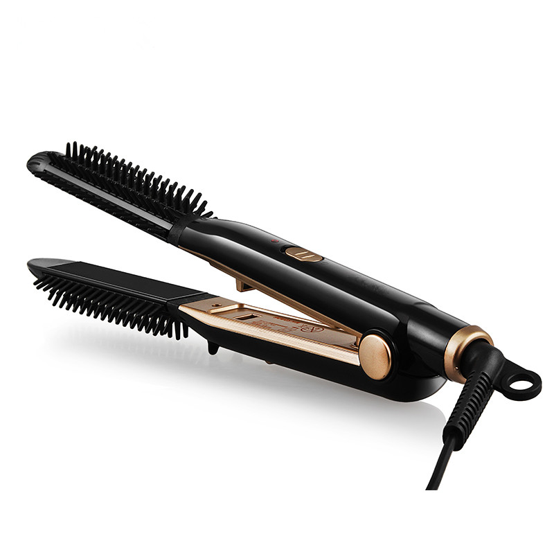 New Curling Irons Hair Curlers Brush Comb Thermostatic Ceramic High Quality Straight Hair Straightener Flat Iron Styler Dry Wet electric curling iron straight iron ceramic plate does not hurt hair straight and straight powder bang big volume curlers