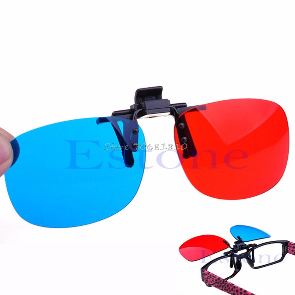 New Red Blue Glasses Hanging Frame 3D 3D Glasses Myopia Special Stereo Clip Type