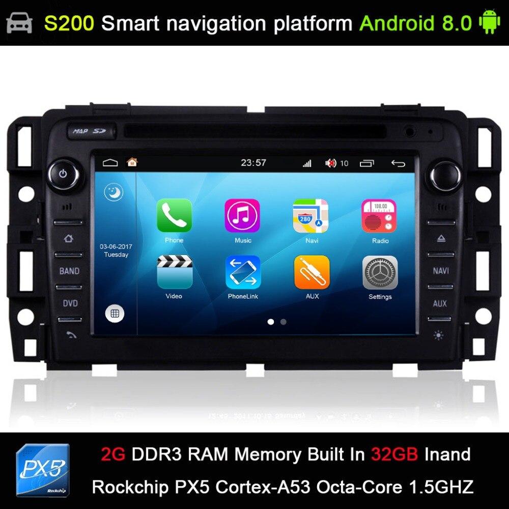 Android 8,0 система PX5 Octa 8 ядерный Процессор 2G Ram, 32 ГБ Rom автомобильный dvd радио GPS навигация для GMC/ЮКОН/Savana/Sierra/Tahoe/Acadia