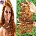 Colour 30 Brazilian Hair Weave 6 Bundles Light Auburn Human Hair Brazillian Body Wave Auburn Virgin Hair Auburn Hair Extensions