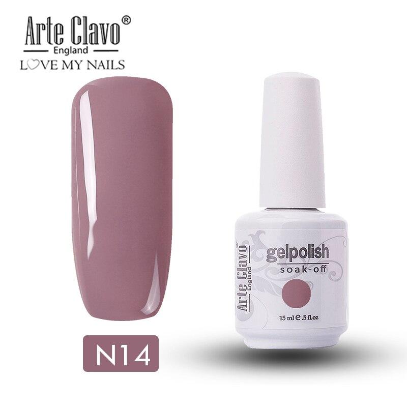 Arte Clavo 15 ml UV Gel Nail Polishl Nude Color Series Hybrid Nails Lacquer UV Led Nail Gel Soak Off Nail Art Gellak Gel Varnish 3