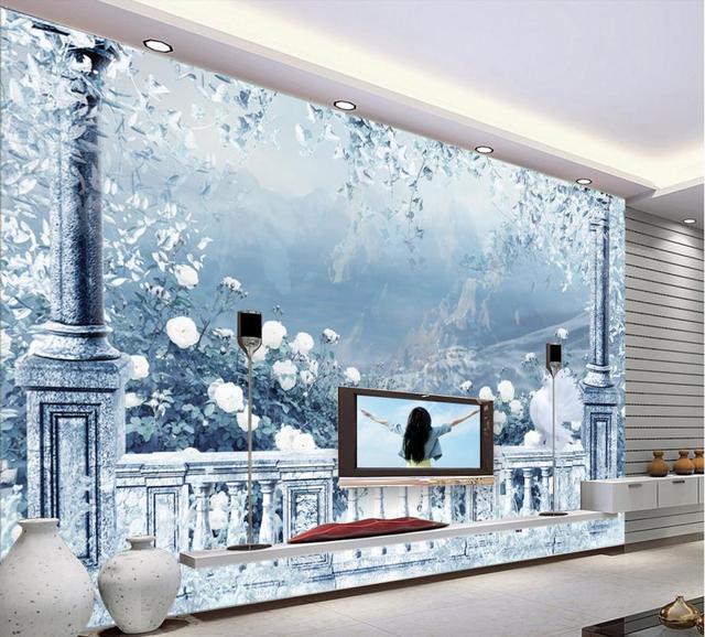 3D Wallpaper Living Room Custom Fantasy Beautiful Snow Wallpaper Sticker  Non Woven Wallpaper Roll Part 74