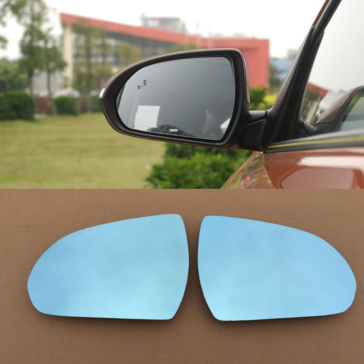 Ipoboo 2pcs New Power Heated w/Turn Signal Side View Mirror Blue Glasses For Hyundai Elantra