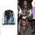 New Kanye West Baseball Jacket Embroidery Bomber Jacket Men Women Tiger Eagle Souvenir Jacket Coat Vintage Silk Jacket 69