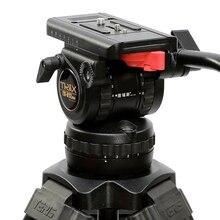 TERIS טריקס TS120 מקצועי חצובה נוזל ראש 100mm קערת עומס 12KG עבור וידאו למצלמות חצובה סרט אדום ארגמן epic