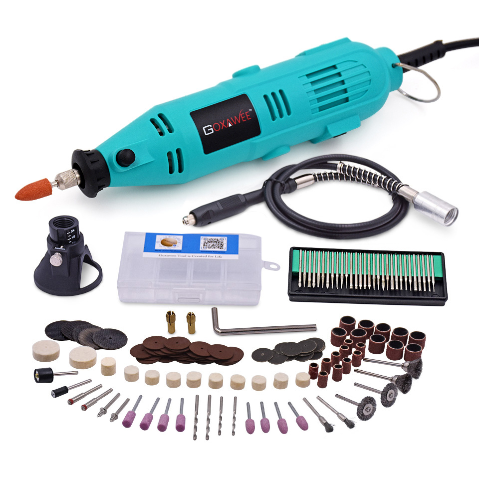 220V 130W Variable Speed Rotary Tools For Dremel Electric Mini Drill with Flexible Shaft 160PCS Accessories Power Tools tasp 220v 130w electric dremel rotary tool variable speed mini drill with flexible shaft and 175pc accessories storage bag