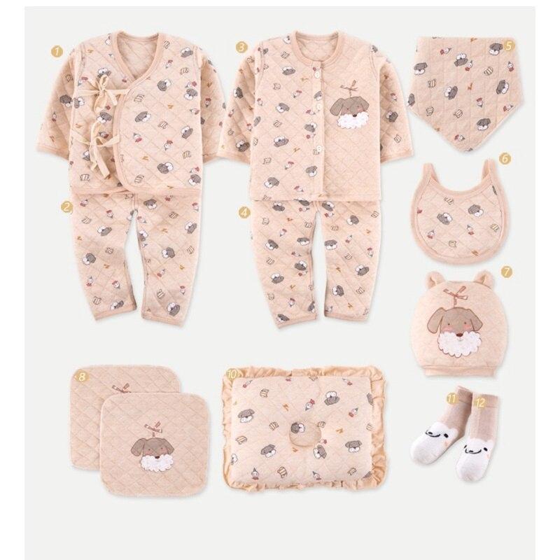 13 pièces/ensemble bébé vêtements ensemble épais coton infantile trucs nouveau-né vêtements couverture oreiller pied couverture gants sous-vêtements costumes cadeaux