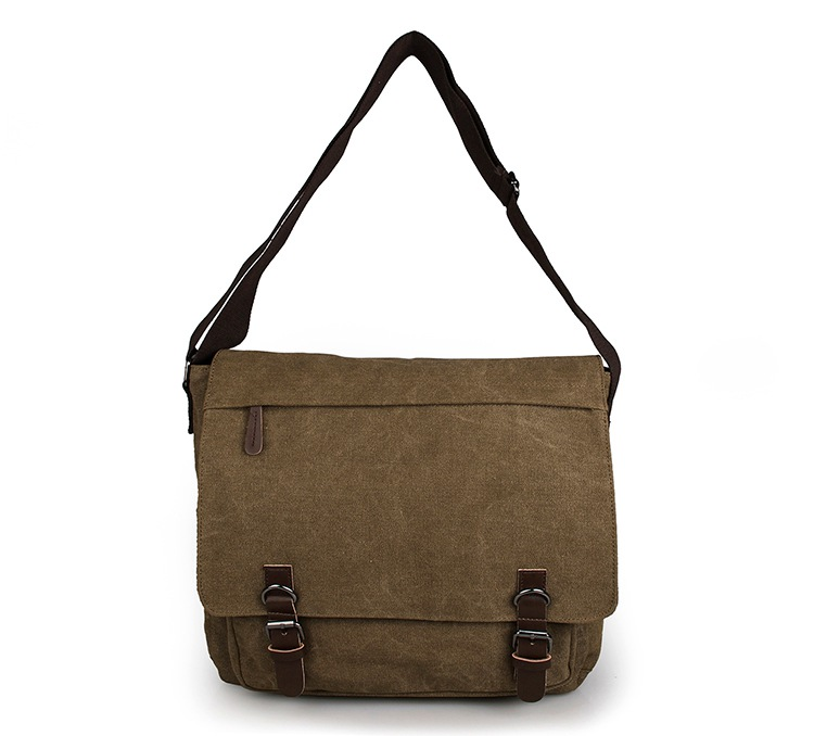 Quality 16Oz Canvas Single Messenger Bag Crossbody Bag Attache Case 9027CQuality 16Oz Canvas Single Messenger Bag Crossbody Bag Attache Case 9027C