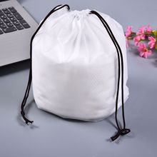 White storage bag environmental green Handbag  Shopping Bags Reusable Grocery eco Bag Bundle pocket
