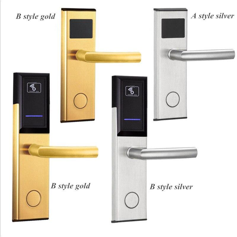 Serrure numérique pour porte d'hôtel avec cartes clés contrôleur d'entrée de porte sécurité Anti-grève 2 voies de déverrouillage Anti-rouille et Anti-Corrosion