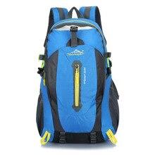 40L Waterproof Nylon Men Women Female Travel Climbing Backpack Hiking Camping Rucksack Mountaineering Cycling Outdoor Sports Bag