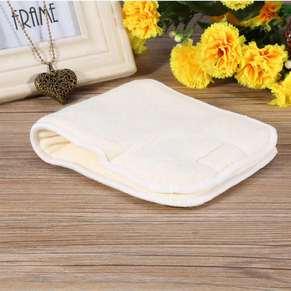 1Pc Reusable Nappy Liner Insert Washable Bamboo Fiber Cloth Adult Diaper Liner Insert 4 Layers Super Absorbent Adult Diaper