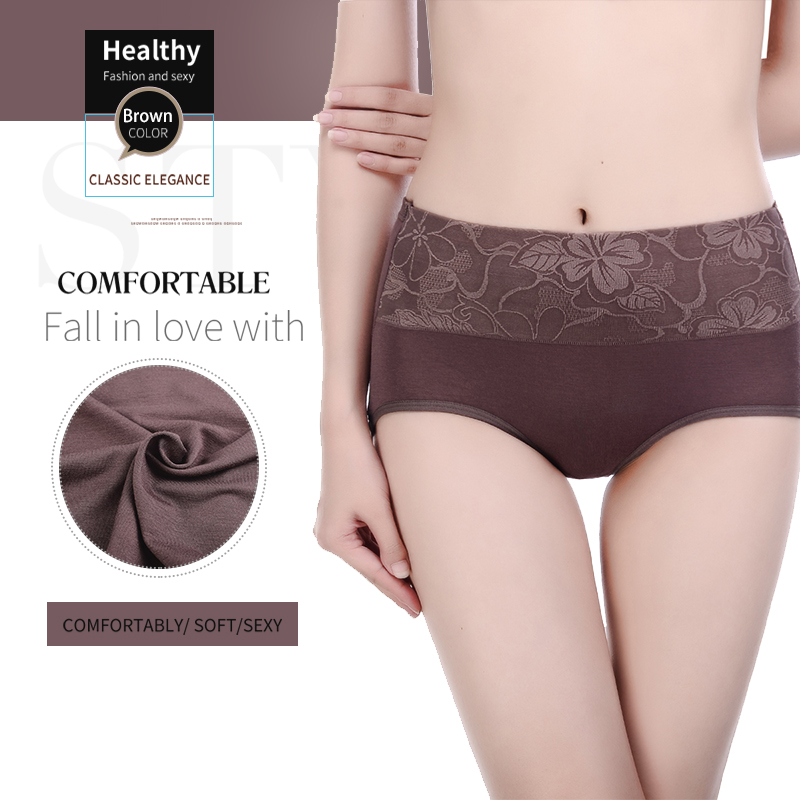 Innsly   Panties   Women's Cotton Soft Women's Underwear Large Size Simple Printed Women's Underwear Breathable Triangle Briefs