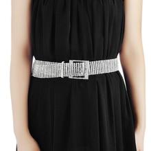Fashion luxury ten row crystal diamond waist chain belt