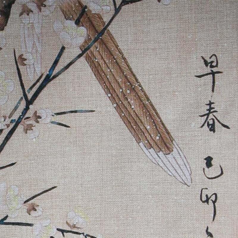 Japan Noren Tapestry Birds and Flowers Prints Cotton Linen Door ...