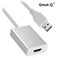 Große-Q USB 3.0 & 2,0 port hdmi HDTV Adapter konverter-kabel Externe Grafikkarte adaptador für windows PC Laptop