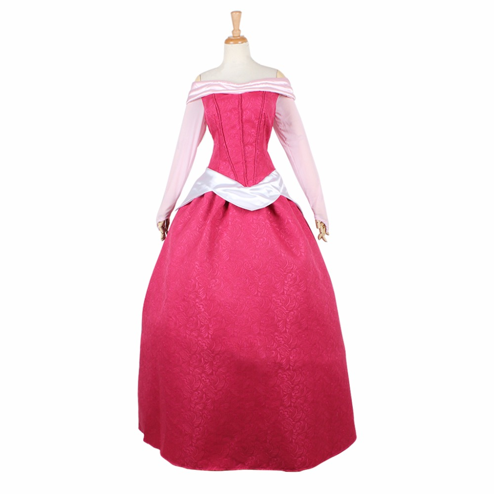 Custom Made Adult Sleeping Beauty Princess Dress Aurora Back Lace Up dress Adult Women Fancy Party