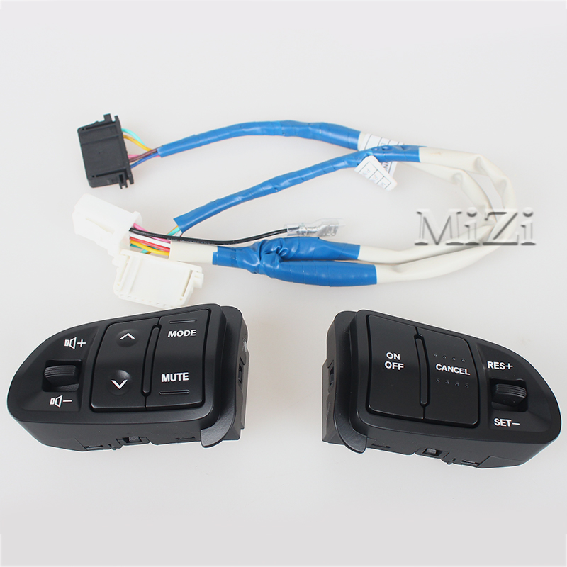 High Quality Multi function Steering Wheel Audio Cruise Control Buttons For Kia sportage with back light