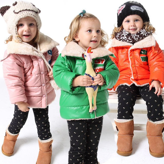 coats girl Winter fashion wear kids warm jackets children  coats