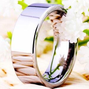Image 3 - Hot sprzedaży 8MM szerokość klasyczna obrączka obrączki srebrne rury darmowe grawerowanie wolframu pierścienie węglikowe dla kobiet męska pierścień