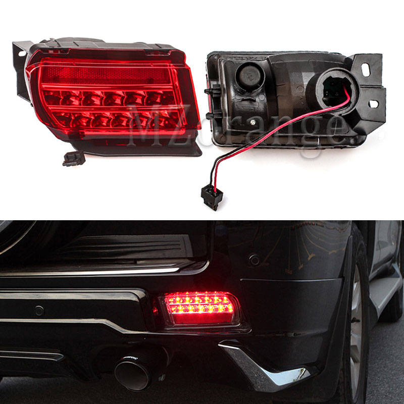 MZORANGE RED LED Tail Bumper Light Left Right Fog Lamp Brake Light for Toyota Land Cruiser