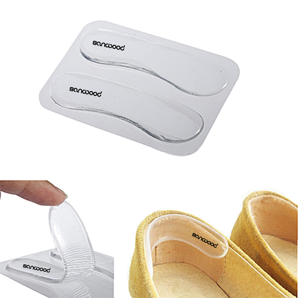 1Pair Silicone Gel Heel Cushion protect Foot feet Care Shoe Insert Pad Insole new fashion brand new 3 pair fashion silicone gel heel cushion protector shoe insert pad insole free shipping for gift