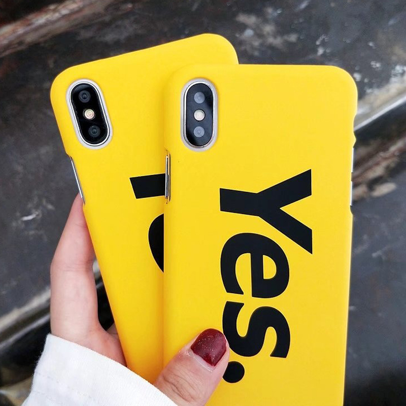 Fashion WordArt Font English words letter Phone Cases Hard plastic PC Back Cover For iPhone 6 6s 7 8 X Plus Case 6Plus 7Plus
