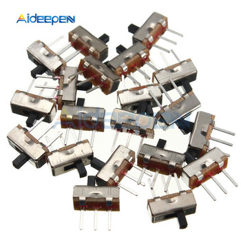 цена на 20PCS SS12D00G3 Slide Switch 2 Position SPDT 1P2T 3Pin PCB Panel Mini Vertical Toggle Switches For DIY Electronic Accessories