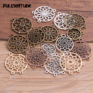 10PCS 6 Style Mix Color/Size Vintage Dream Catcher Jewelry For Diy Finding Dream Catcher Pendant Charms Hand Making(China)