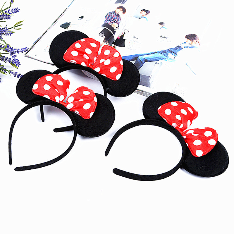 New Accessories Hairband Hairpins Mickey Minnie Hair Baby Girls Lovely Bow   Headwear   Hair Clip Headband Hair Accessories