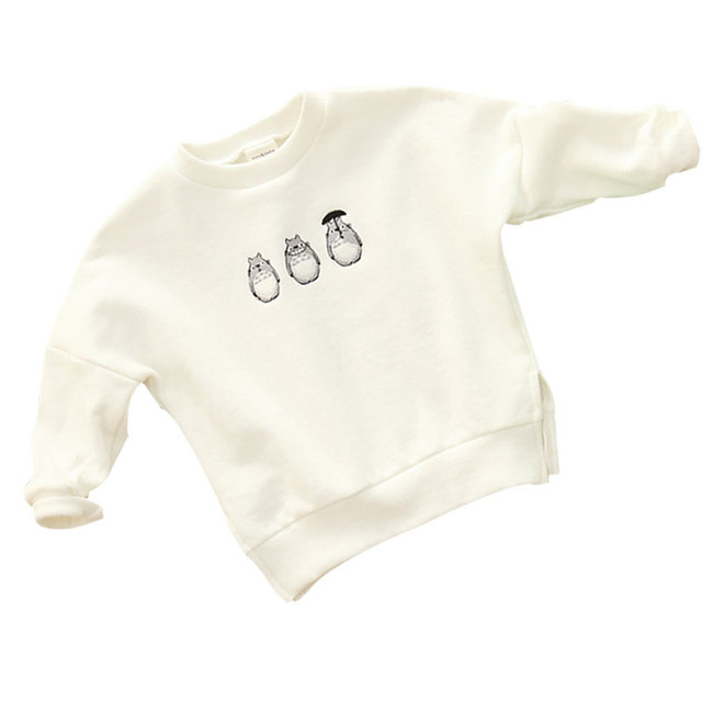 Children's Clothing 2016 Fashion Parent-child Baby Boy And Girl Cartoon Cotton Sweatshirts Long Sleeve Embroidery Kids Pullovers