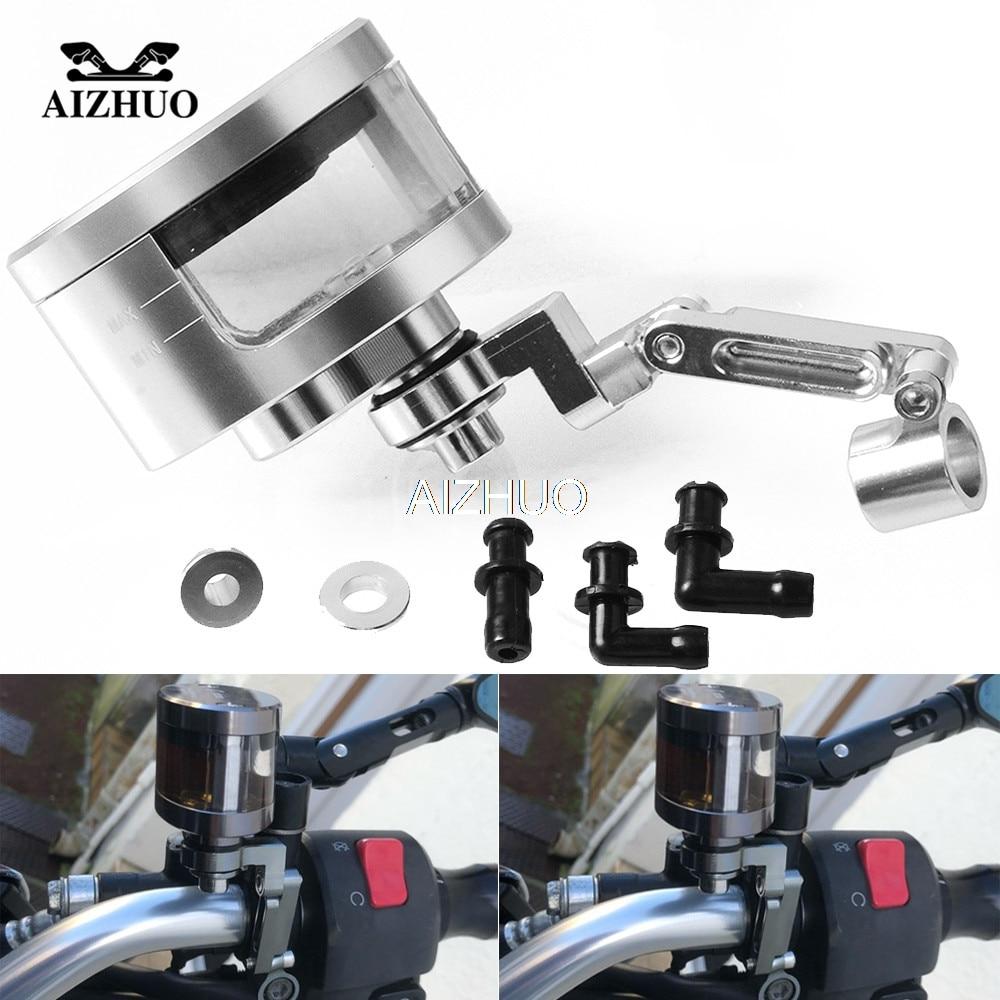 CNC Motorcycle Brake Fluid Oil Reservoir Cup Tank+Support Bracket For Suzuki GSX1300R GSXR 600 750 1000 K2 K3 K4 K5 K6 K7 K8 K9