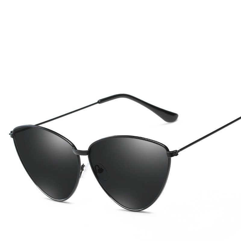 LONSY 2019 New Women Cat Eye Sunglasses Metal Sunglass Luxury Brand Designer Vintage Ladies Eyeglasses lunette de soleil femme