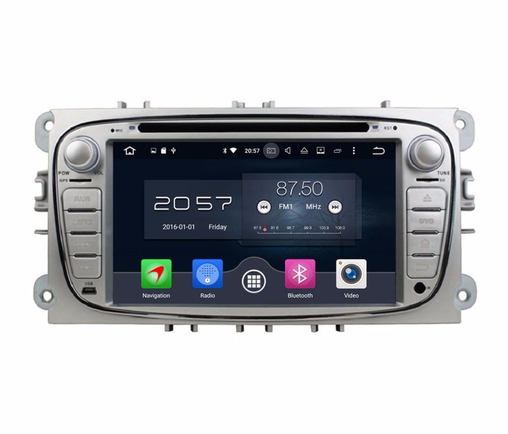 Octa Core 2 din 7 Android 6.0 Car Radio DVD GPS for Ford Mondeo Tourneo Transit S-max With 4GB RAM Bluetooth WIFI Mirror-link