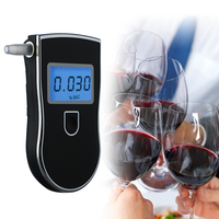 Professional Police Digital LED Breath Alcohol Tester Breathalyzer AT818 5pcs Mouthpieces