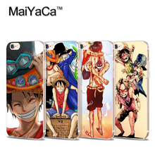Cartoon one piece Hot Sale Fashion Transparent Soft cover phone case For iPhone 4s 5s 6s 7 7plus case