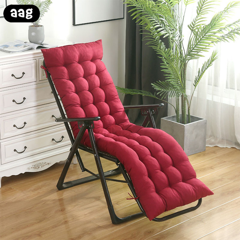 solid soft Garden Sun Lounger Recliner chair Cushion Thicken Foldable Rocking Chair Cushion long Chair Couch Seat Cushion Pads