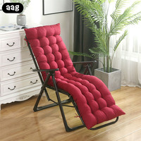 AAG Comfortable Garden Sun Lounger Recliner Cushion Pad Replacement Deck Chair Cushion Soft long Chair Couch Seat Cushion Pads