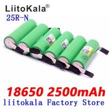 Liitokala 100% original 18650 2500 mah bateria 3.6 v inr18650 25r m 20a descarga 18650 bateria + número diy