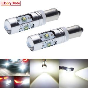 Image 1 - 2 pçs de alta potência canbus erro livre branco bay9s h21w 64136 xbd 25 w luzes led automático estacionamento reverso lâmpada estilo do carro 12 v dc