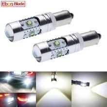 2Pcs 높은 전원 Canbus 오류 무료 화이트 BAY9S H21W 64136 XBD 25W 자동 LED 조명 역방향 주차 전구 램프 자동차 스타일링 12V DC