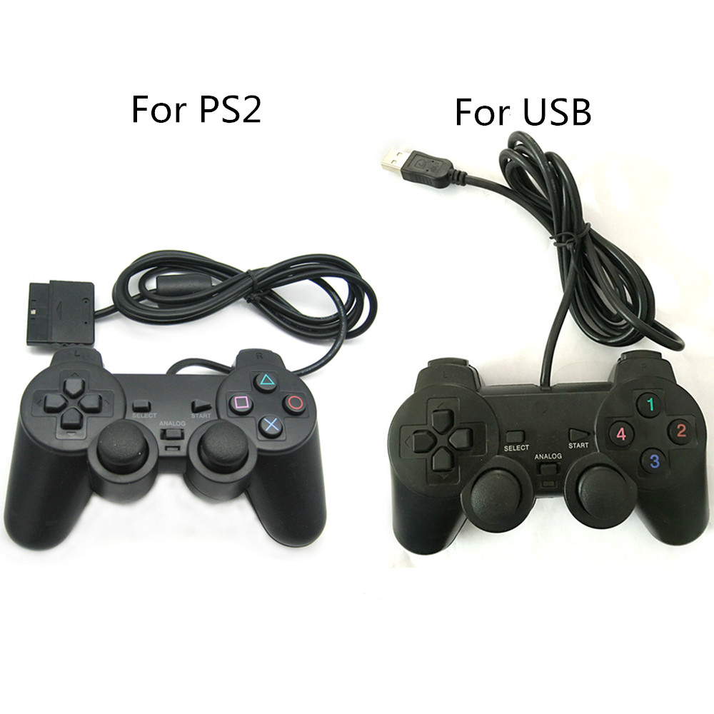 Wired Controller Gamepad Joystick Joypad Game Controller For PS2 Port For USB Port Shock Vibration For Windows PC for pc retro handheld usb gamepad classic controller for saturn system style high quality wired game controller joypad for mac