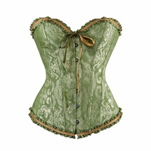 Vintage green corsets and bustiers shapewear lingerie