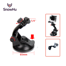 SnowHu 7cm Windshield Suction Cup Mount for Gopro Hero 7 6 5for Xiaomi Yi 4K with Tripod Adapter camera Accessory GP61